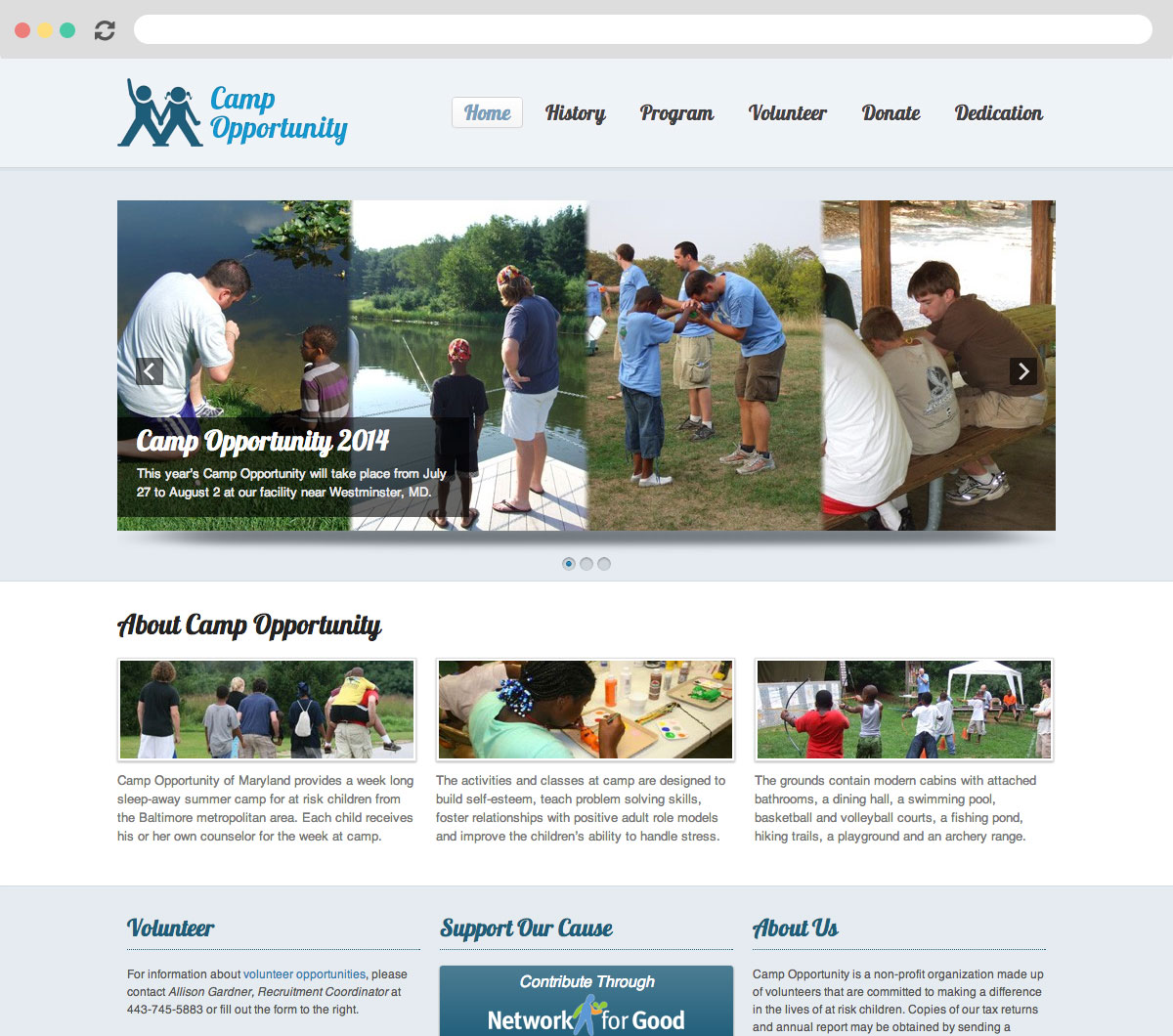 Camp Opportunity Homepage