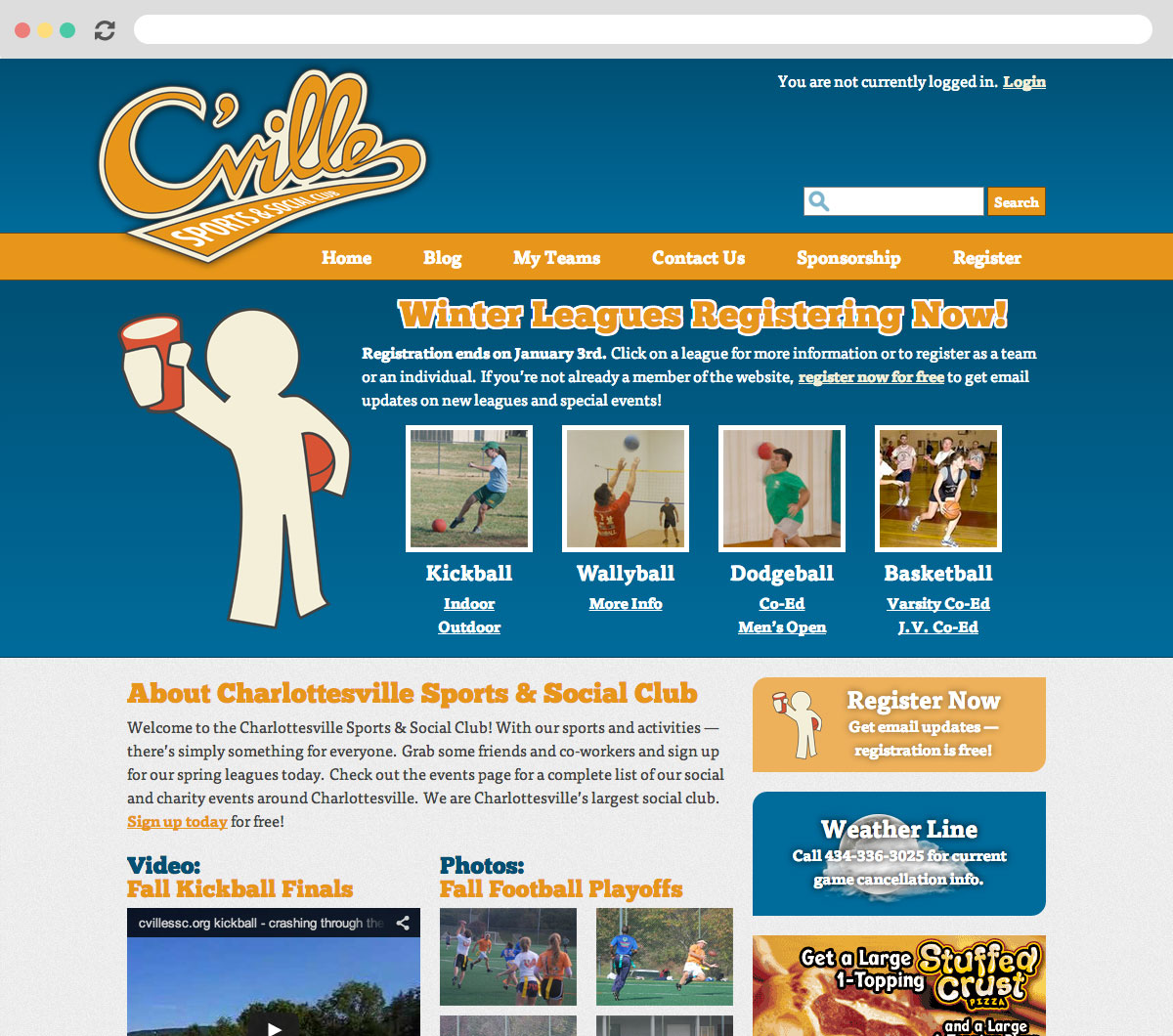 Charlottesville Sports & Social Club Homepage